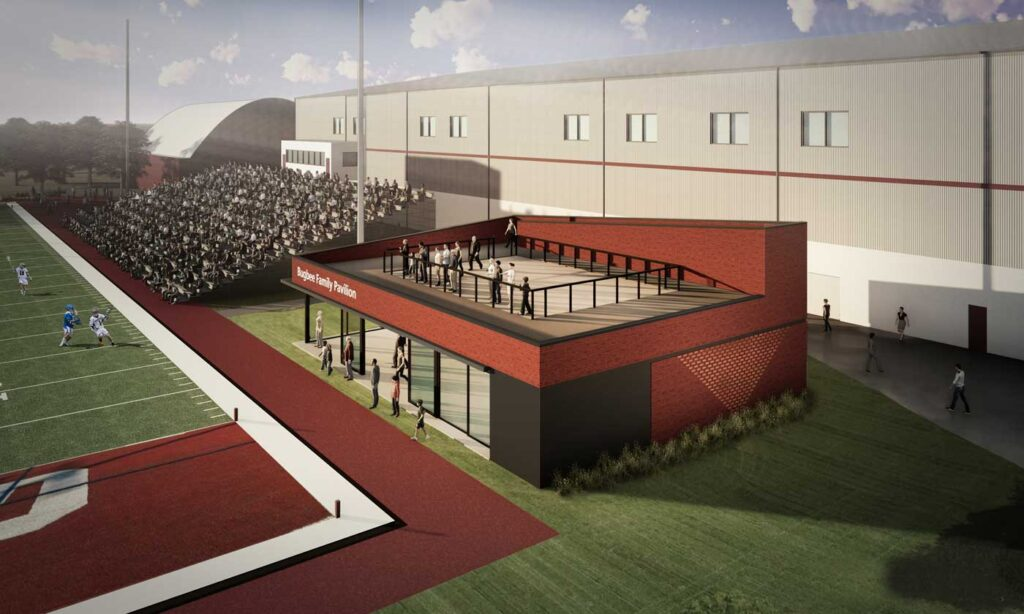 Rendering of the Bugbee Pavilion