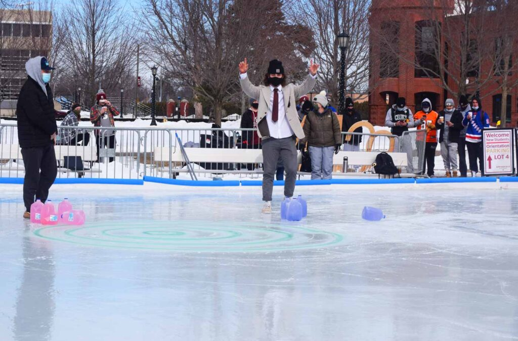 Curling on Naismith Rink