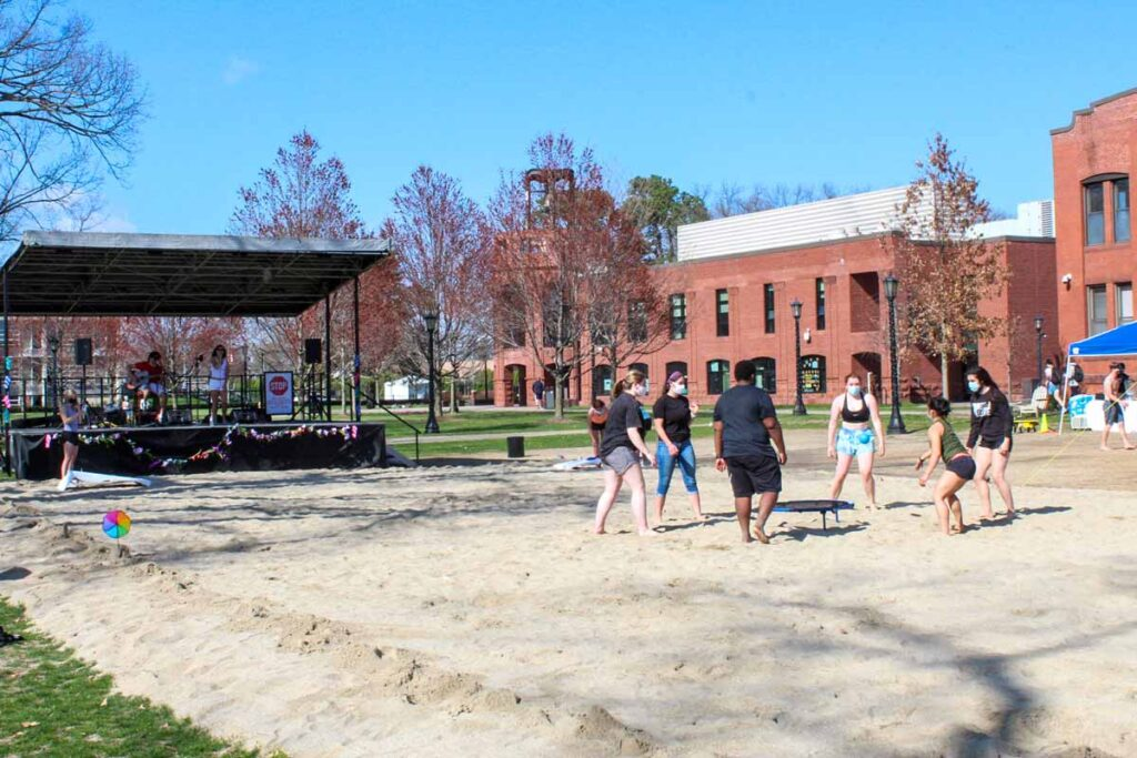 Games and music on Naismith Green