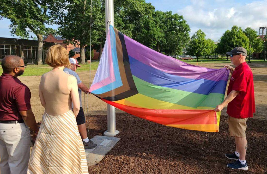 Pride Flag Raising on Campus Green 6-22-21