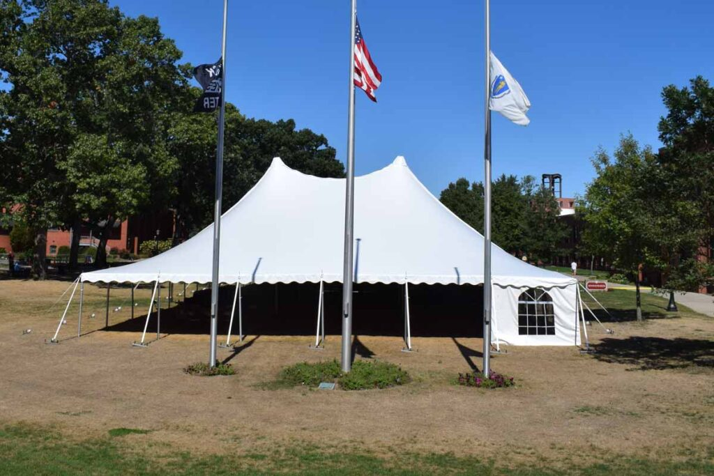 Tent on Naismith Green that provided space for Fall activities